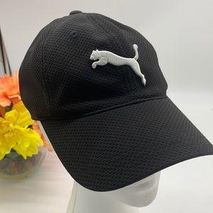 Puma Black hat with white logo adjustable